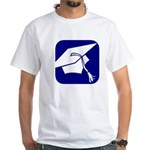 Graduation Cap White T-Shirt