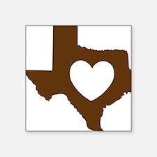 """heart_brown Square Sticker 3"""" x 3"""""""