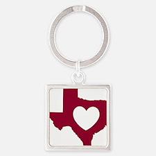 heart_maroon Square Keychain