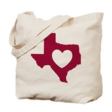 heart_maroon Tote Bag