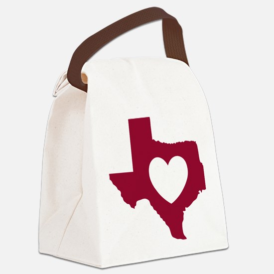 heart_maroon Canvas Lunch Bag