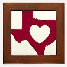 heart_maroon Framed Tile