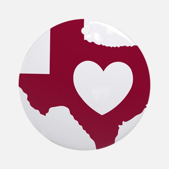 heart_maroon Round Ornament