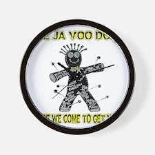 2-VOO DOO b-g-shirt test3 Wall Clock