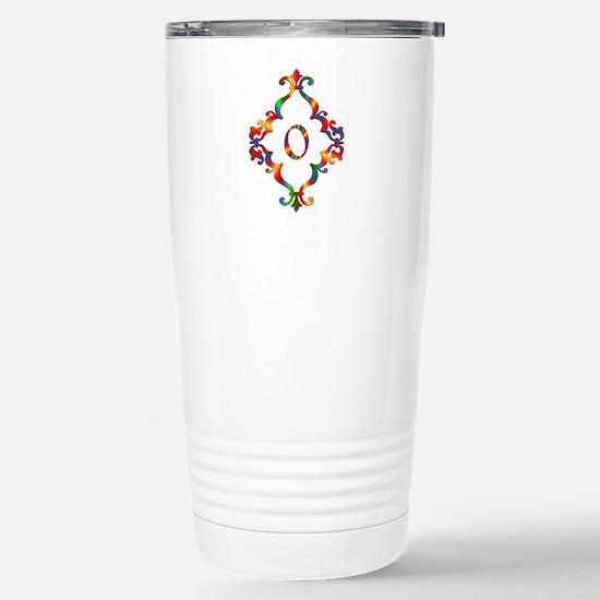 Colorful Letter O Travel Mug