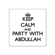 Keep Calm and Party with Abdullah Sticker