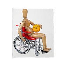 WheelchairBasketball Throw Blanket