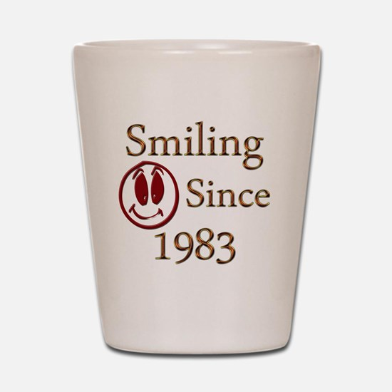 smiling 83 Shot Glass
