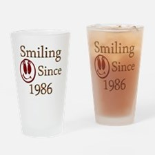 smiling 86 Drinking Glass