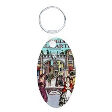Comedy Journal Aluminum Oval Keychain