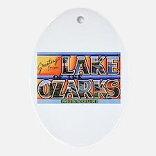 Lake of the Ozarks Missouri Oval Ornament