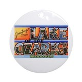 Lake of the ozarks vacation Round Ornaments