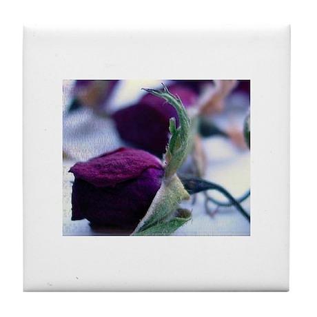 Purple Roses Tile Coaster