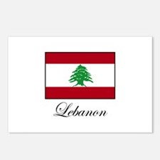 Lebanon - Lebanese Flag Postcards (Package of 8)