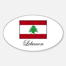 Lebanon - Lebanese Flag Oval Decal