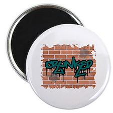 "Graffiti Style ""Crunked"" Design Magnet"