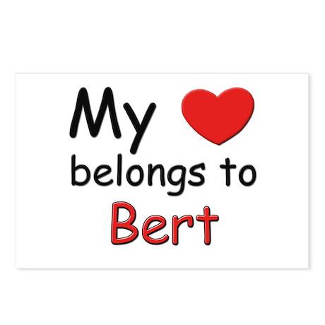 My heart belongs to bert Postcards (Package of 8)
