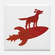 Trusty Rusty Red Setter Tile Coaster