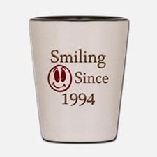 smiling 94 Shot Glass