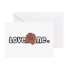Love me Yorkshire Terrier Greeting Cards (Package