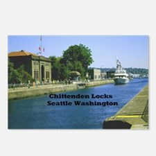 Chittenden Locks Seattle  Postcards (Package of 8)