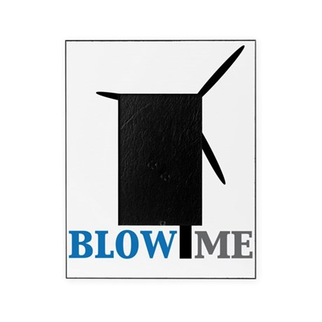 blow me wind turbine Picture Frame