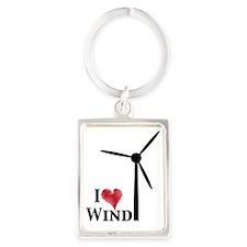 i love wind Portrait Keychain