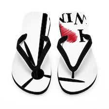 i love wind Flip Flops