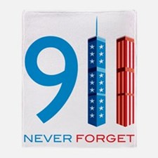 911 Never Forget Throw Blanket