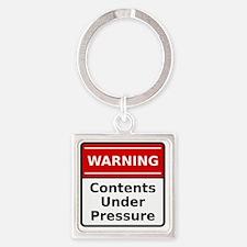 pressureContent Square Keychain