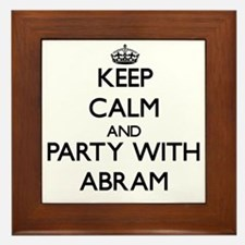 Keep Calm and Party with Abram Framed Tile