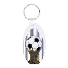 Soccer Ball Water Bottle Keychains