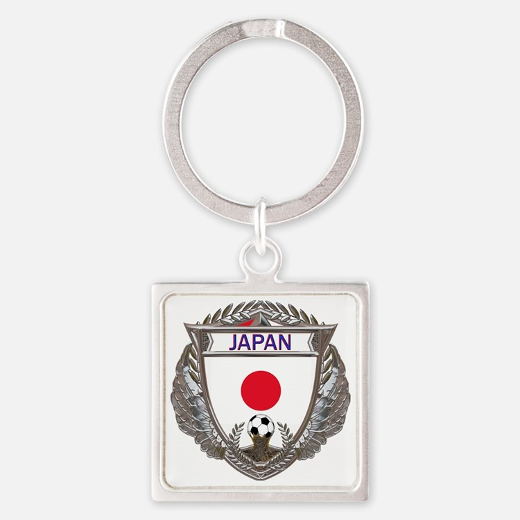 Japan Soccer Gym Bag Square Keychain