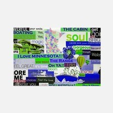 vacationMN6x4purp Rectangle Magnet