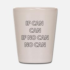can-can Shot Glass