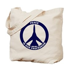 Peace Is Our Profession - FB-111 Navy Blu Tote Bag