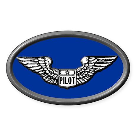 Pilot gear Oval Sticker