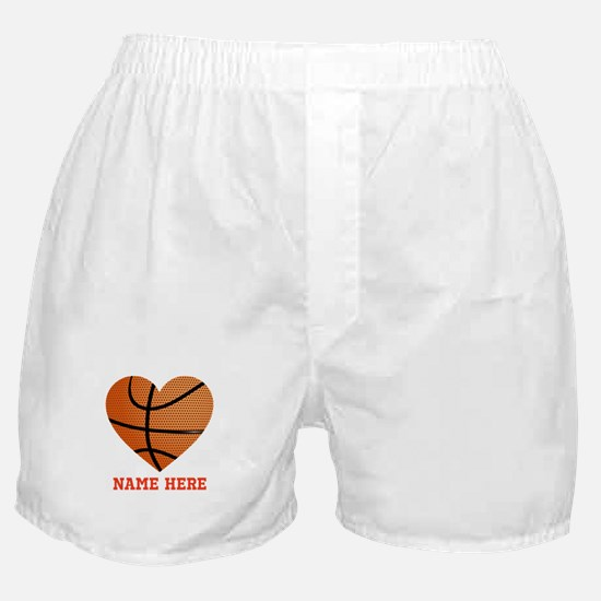 Basketball Love Personalized Boxer Shorts