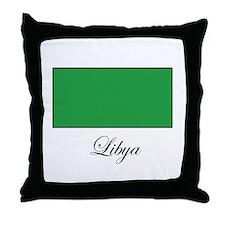 Libya - Libyan Flag Throw Pillow