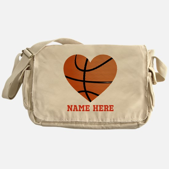 Basketball Love Personalized Messenger Bag