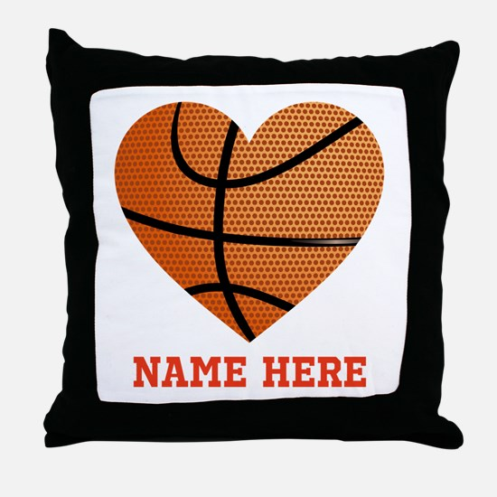 Basketball Love Personalized Throw Pillow