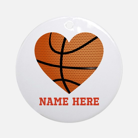 Basketball Love Personalized Round Ornament