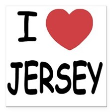 "JERSEY Square Car Magnet 3"" x 3"""