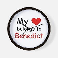 My heart belongs to benedict Wall Clock
