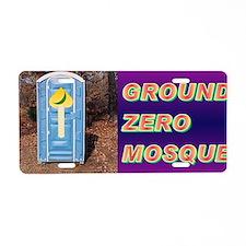 Ground Zero Mosque(small fr Aluminum License Plate