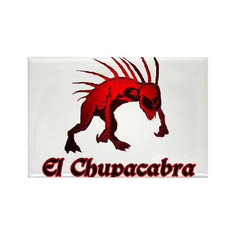 El Chupacabra Red Rectangle Magnet