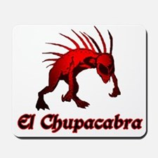 El Chupacabra Red Mousepad