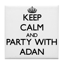 Keep Calm and Party with Adan Tile Coaster