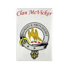 McVicker wht transparent Rectangle Magnet