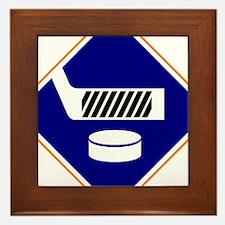 Hockey Sign Framed Tile